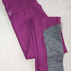 Purple/Grey Sports Leggings